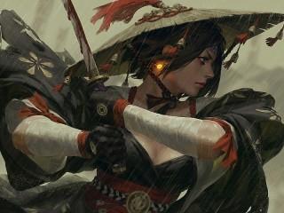 Собирать пазл Самурай онлайн