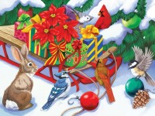 Собирать пазл Санки с подарками онлайн