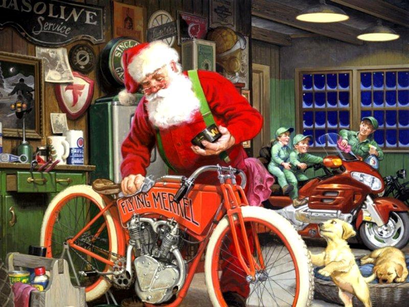 Пазл Собирать пазлы онлайн - Санта Клаус
