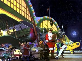 Собирать пазл Санта-Клаус онлайн