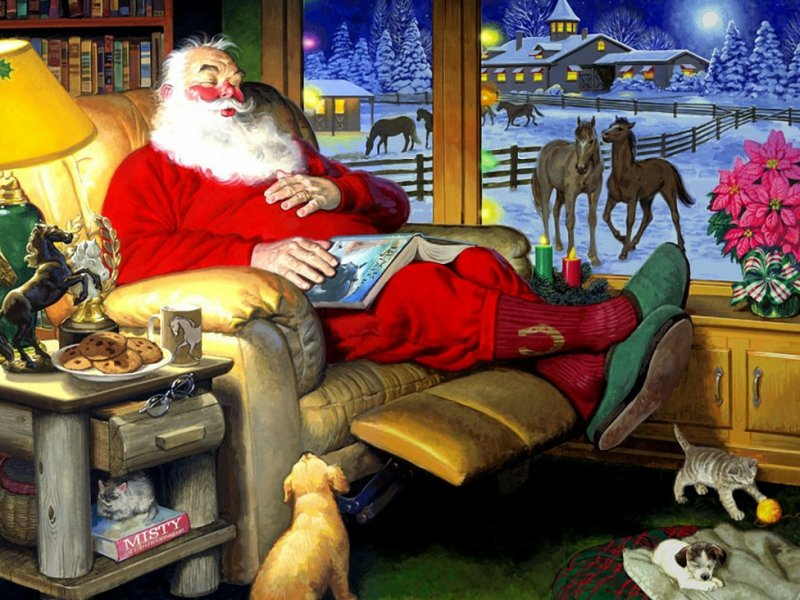 Пазл Собирать пазлы онлайн - Санта Клаус 6