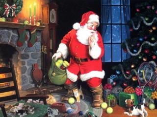 Собирать пазл Санта Клаус пришел онлайн