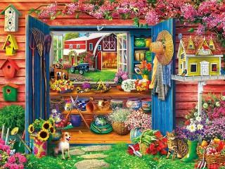 Собирать пазл Сарай садовника онлайн