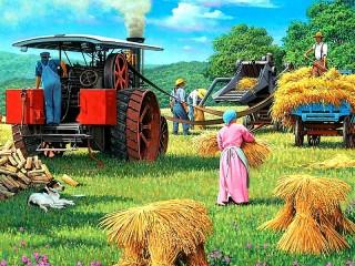 Собирать пазл Сбор урожая онлайн