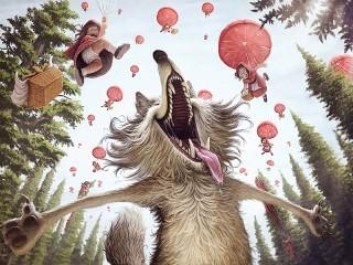 Собирать пазл Счастье Серого Волка онлайн