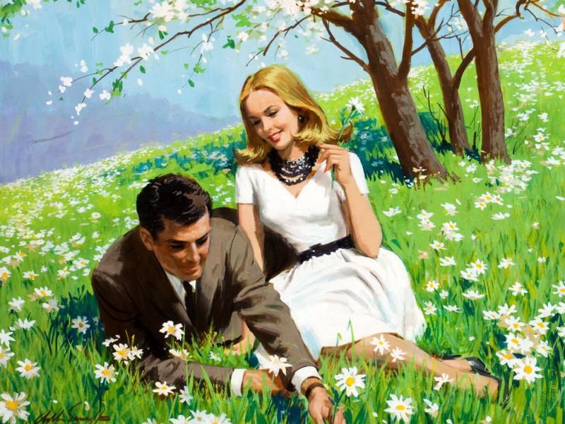 Пазл Собирать пазлы онлайн - Счастливая весна
