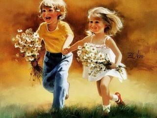 Собирать пазл Счастливое детство онлайн