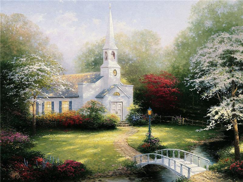 Пазл Собирать пазлы онлайн - Сельская церковь