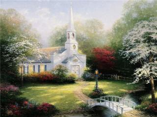 Собирать пазл Сельская церковь онлайн