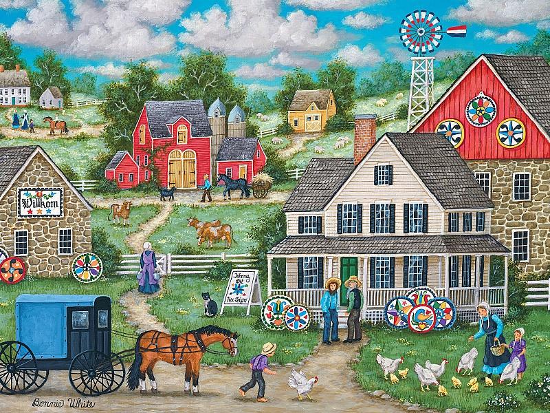 Пазл Собирать пазлы онлайн - Сельская жизнь