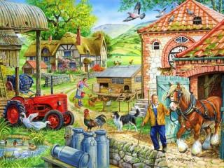 Собирать пазл Сельская жизнь онлайн