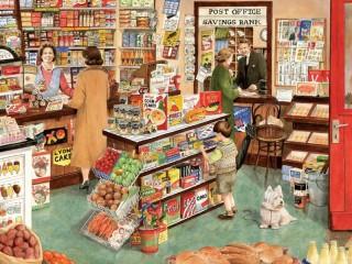Собирать пазл Сельский магазин онлайн