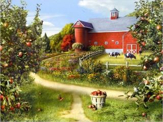 Собирать пазл Сельский пейзаж онлайн