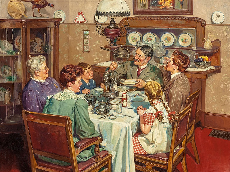 Пазл Собирать пазлы онлайн - Семейный обед