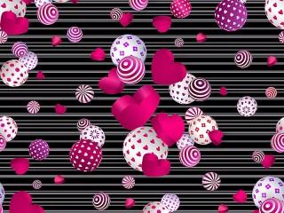 Собирать пазл Сердечки и шарики онлайн