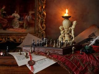 Собирать пазл Шахматная партия онлайн