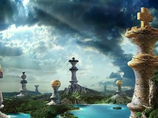 Собирать пазл Шахматный сюр онлайн