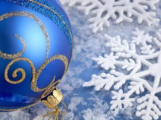 Собирать пазл Шар и снежинка онлайн