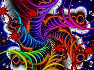 Собирать пазл Шесть спиралей онлайн