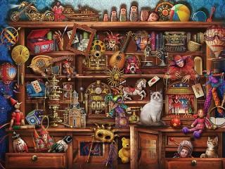 Собирать пазл Шкаф с игрушками онлайн