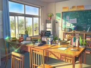 Собирать пазл Школьный кабинет онлайн