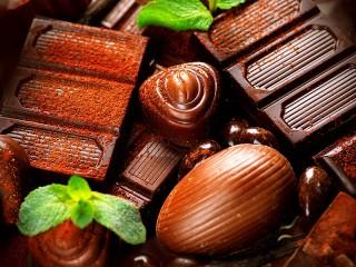 Собирать пазл Шоколад и мята онлайн