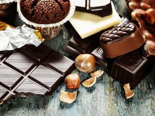 Собирать пазл Шоколад и орех онлайн