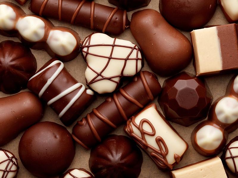 Пазл Собирать пазлы онлайн - Шоколадные конфеты