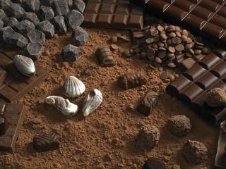 Собирать пазл Шоколадные россыпи онлайн