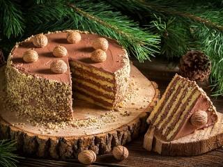 Собирать пазл Шоколадный десерт онлайн