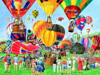 Собирать пазл Шоу воздушных шаров  онлайн