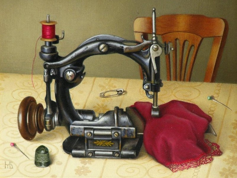 Пазл Собирать пазлы онлайн - Швейная машинка