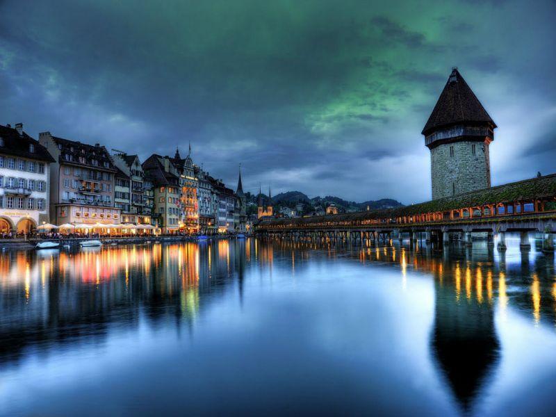 Пазл Собирать пазлы онлайн - Швейцарский мост