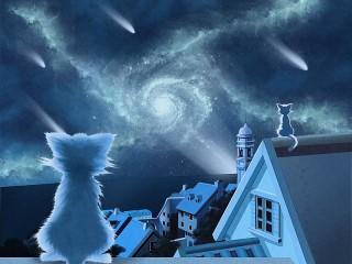 Собирать пазл Сидя на крышах онлайн