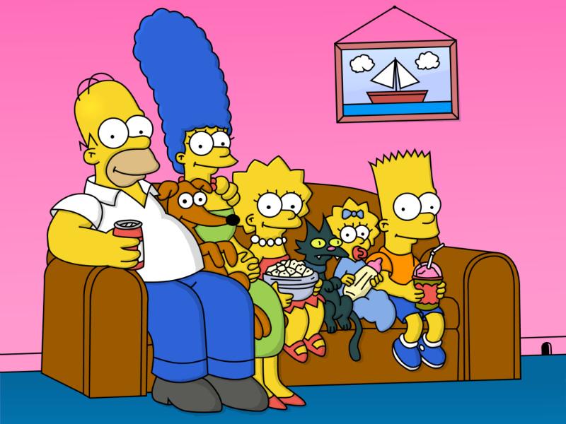Пазл Собирать пазлы онлайн - Симпсоны