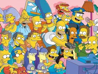 Собирать пазл Симпсоны онлайн