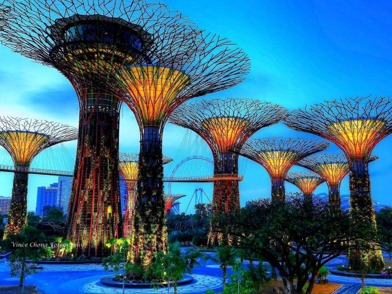 Пазл Собирать пазлы онлайн - Футуристические сады Сингапура