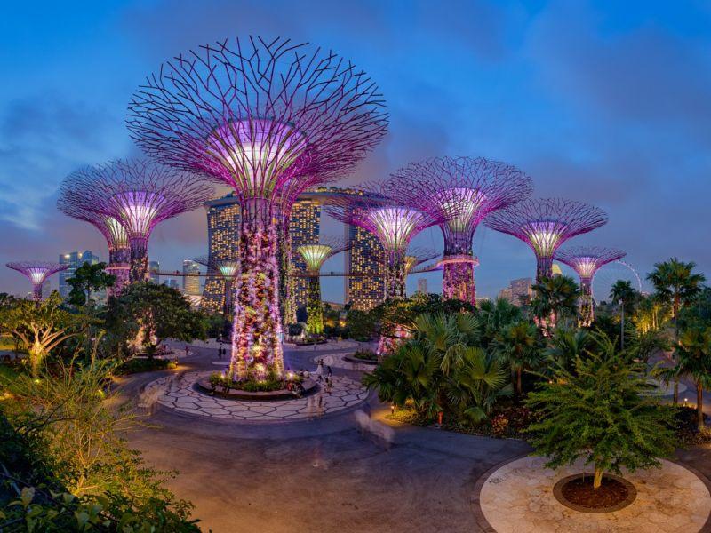 Пазл Собирать пазлы онлайн - Сингапур сад