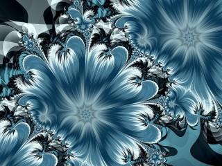 Собирать пазл Синие цветы онлайн