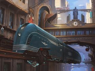 Собирать пазл Синий локомотив онлайн