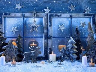 Собирать пазл Синий снег онлайн