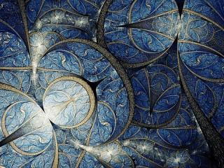 Собирать пазл Синяя абстракция онлайн