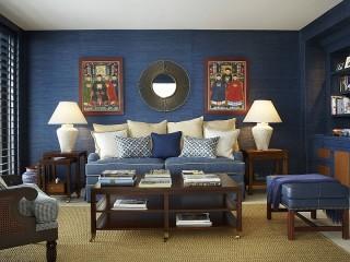 Собирать пазл Синяя гостиная онлайн