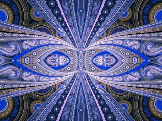 Собирать пазл Синяя симметрия онлайн