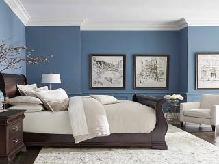 Собирать пазл Синяя спальня онлайн