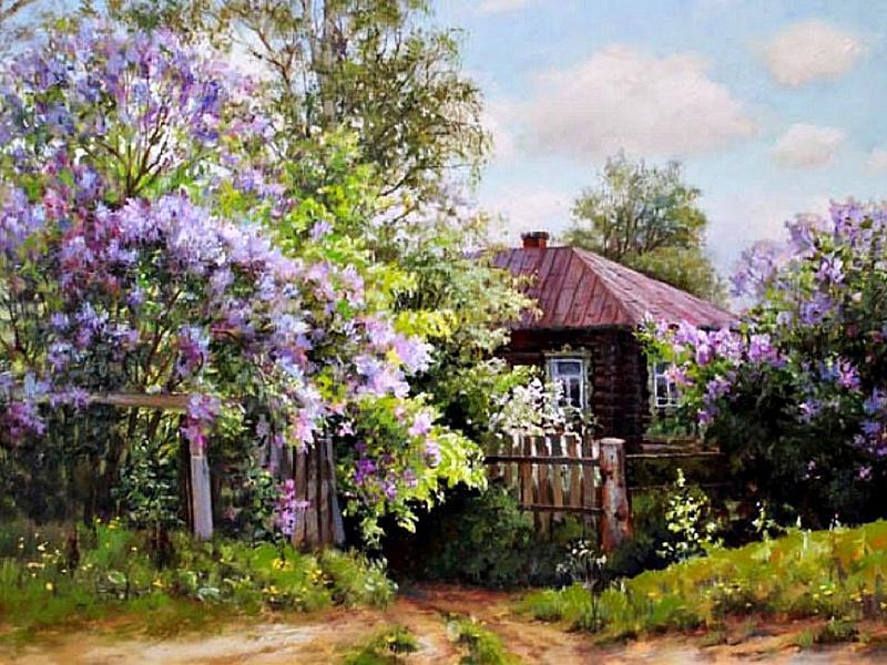 картинки цветущий сад в деревне рациональное выпаивание