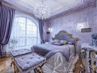 Собирать пазл Сиреневая спальня онлайн