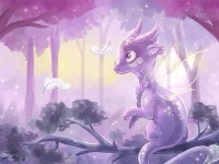 Собирать пазл Сиреневый дракончик онлайн