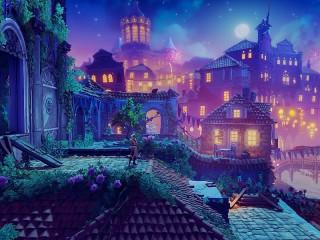 Собирать пазл Сиреневый город онлайн