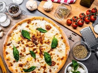 Собирать пазл Сырная пицца онлайн